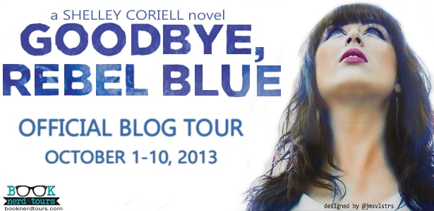 Goodbye, Rebel Blue a young adult novel by Shelley Coriell, published by Amulet Books/Abrams.